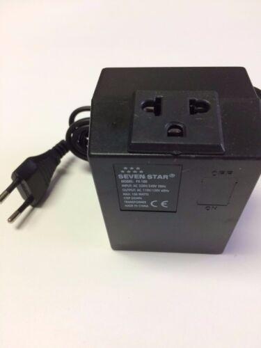 Seven Star 220 Volt Step Down Transformer 100 Watt 2 Round Pin EU 220V to 110V