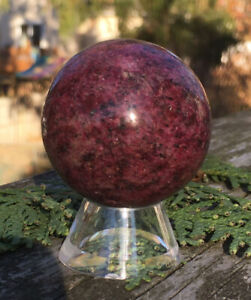 108-6g-NATURAL-RHODONITE-CRYSTAL-POLISHED-HEALING-SPHERE-Reiki-Charged-SWEDEN