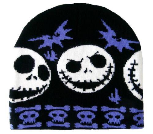 NIGHTMARE BEFORE CHRISTMAS beanie hat BLACK//PURPLE Jack Skellington//boys//ski//NBC