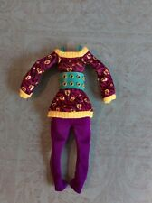 MONSTER HIGH ~ Clawdeen Wolf Schools Out SHIRT CROP PANTS BELT CLOTHES OUTFIT