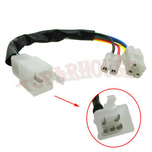 cdi cable wire adapter connector plug for moped scooter pit dirt rh ebay com Pit Bike Clutch Pit Bike Carb