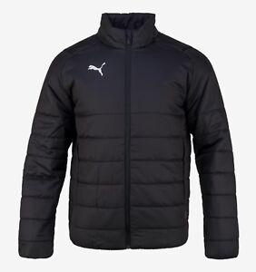 57feb3649c33 Puma Men Liga Casual Padded Jacket Winter Black Warm Coat Top Padded ...