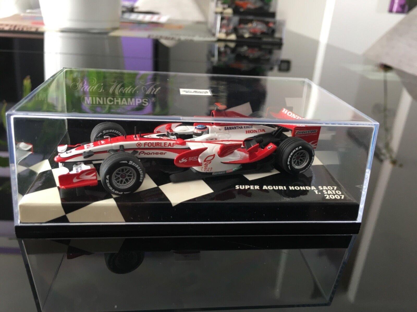 Minichamps 1 43 Super Aguri Honda SA07 GP 2007 T. Sato