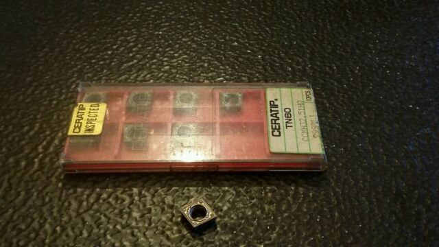 10 NIB Ceratip CCMT 32.51 HQ TN-60 Carbide Inserts