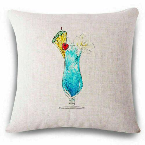 18/'/' Cotton Drink Linen Fashion Throw Pillow Case Cushion Cover Home Sofa Decor