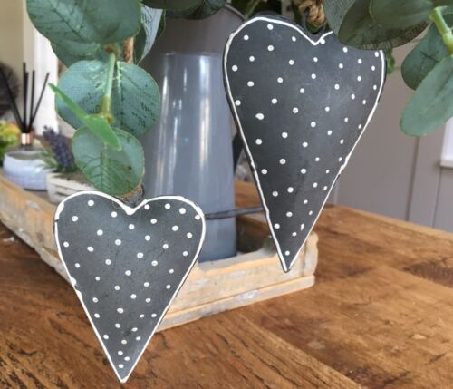 Vintage Style Shabby Christmas Chic Wedding Hanging Hearts Home Decoration Gift