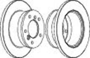 Rear Brake Disc Single Fits Mercedes-Benz VW OE 9024230112 Ferodo FCR229A