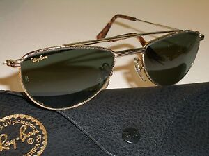 c5736c204f VINTAGE BAUSCH   LOMB RAY BAN W1758 GOLD PLATED COMBO G15 UV AVIATOR ...