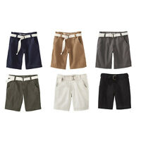 Mossimo Supply Co. Utility Style Belted Flat Front Cotton Relaxed Men Shorts