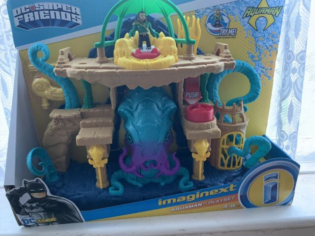 Imaginext Fisher Price FMX66 DC Super Friends Aquaman Playset NEW Free postage