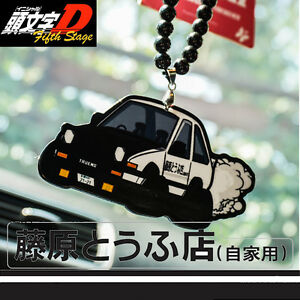 Initial D Ae86 Strap Rearview Mirror Hanging Ornaments Car
