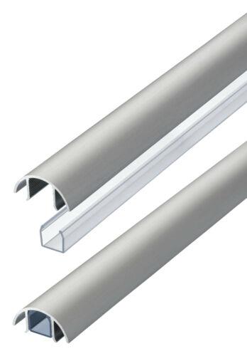 MINI Design Aluminium Kabelschacht in Edelstahl gebürstet Style für Lautsprecher