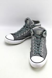 26ad82b3c5c8 Converse All Star Street High Top Gray Canvas Sneakers Shoes Mens 10 ...
