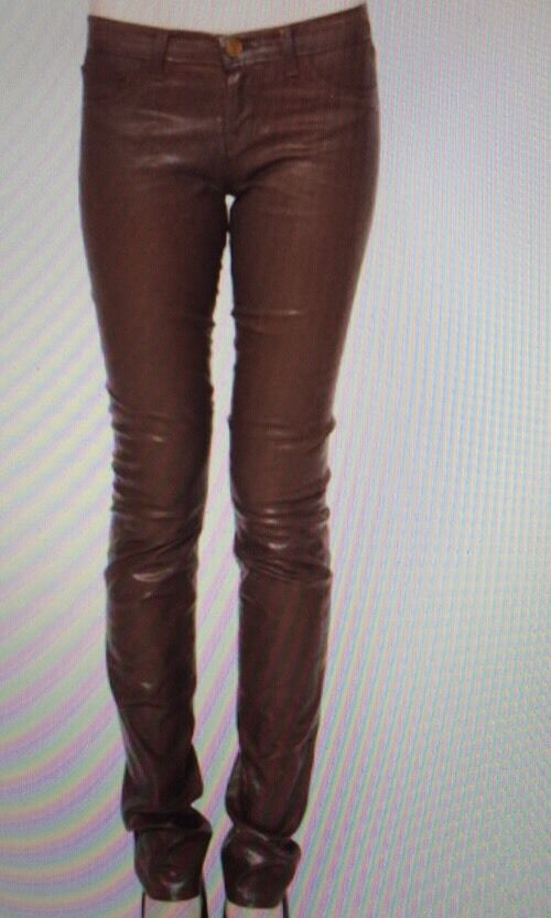 J Brand Pencil Leg Skinny Jeans--Turbulent Coated Clay-- Size 24