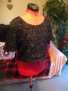 BARGAIN-9-99-Chic-party-H-amp-M-top-size-Large-approx-14-16-vgc-worn-once