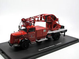 schuco 03101 mercedes benz l 6600 kranwagen feuerwehr. Black Bedroom Furniture Sets. Home Design Ideas
