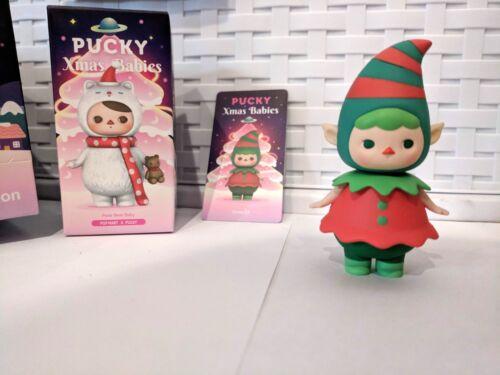 New Pucky x POP MART Xmas Babies 1/12 Xmas Elf Figure Designer Toy