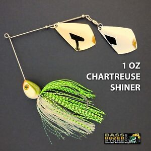 Bassdozer-spinnerbaits-TROPHY-ROYAL-1-oz-CHARTREUSE-SHINER-spinner-bait-lures
