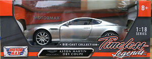MOTOR-Max-73174R-73174S-ASTON-MARTIN-DB9-COUPE-Model-Cars-rosso-o-argento-1-18th