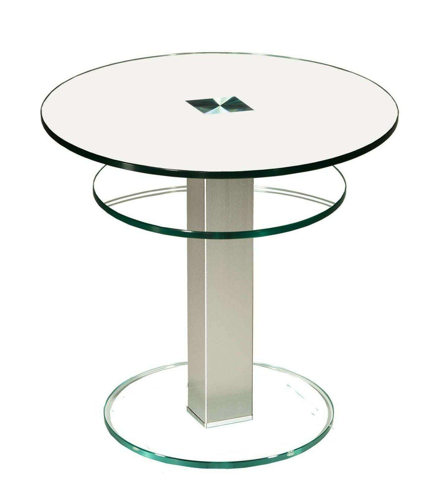 Glastisch Motala klarglas Beistelltisch Couchtisch Blumentisch Skandi Tisch