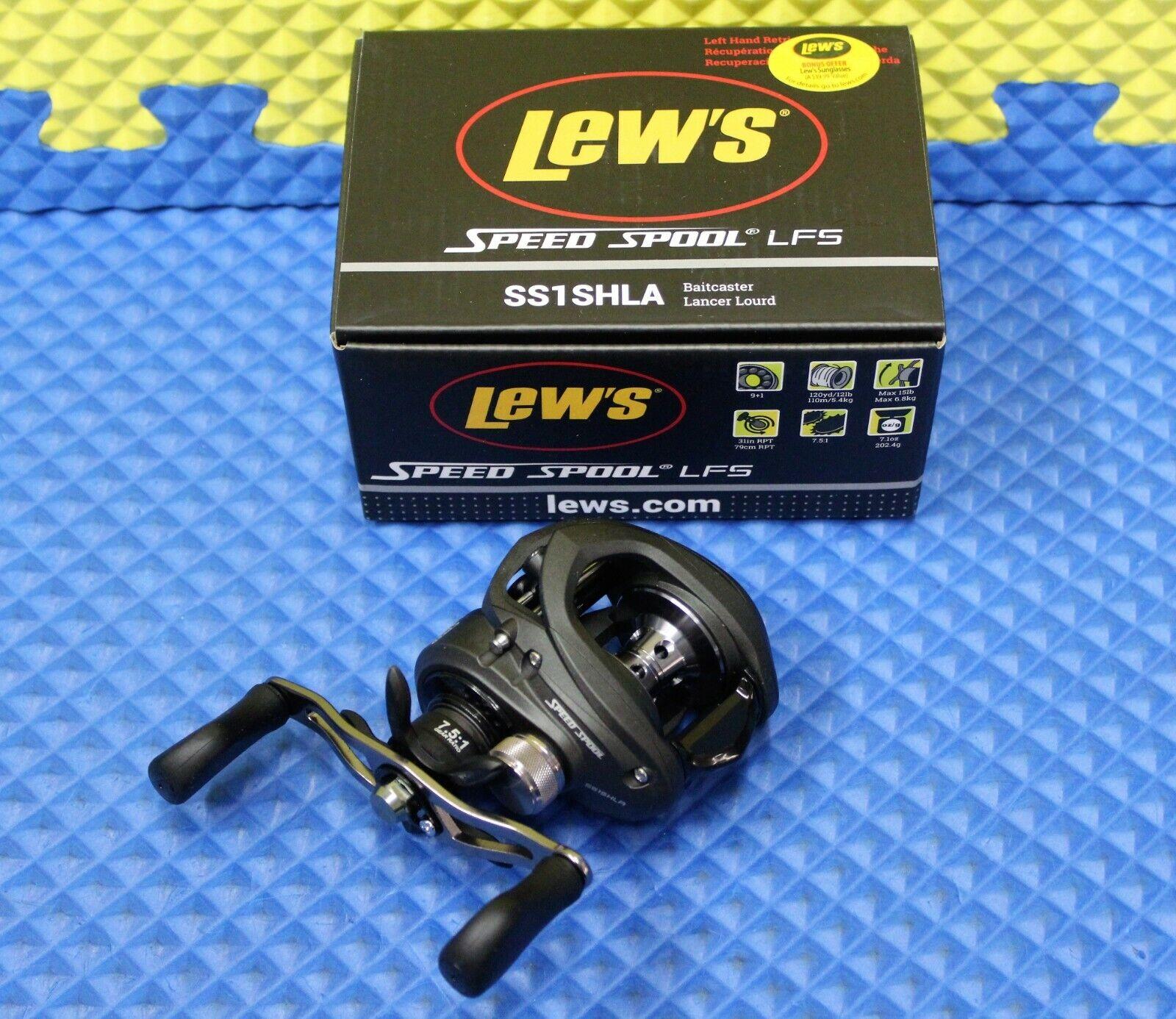 Lew's Speed Spool LFS Series Baitcaster Reel 8BB  1ZRCB LEFT HANDED SS1SHLA