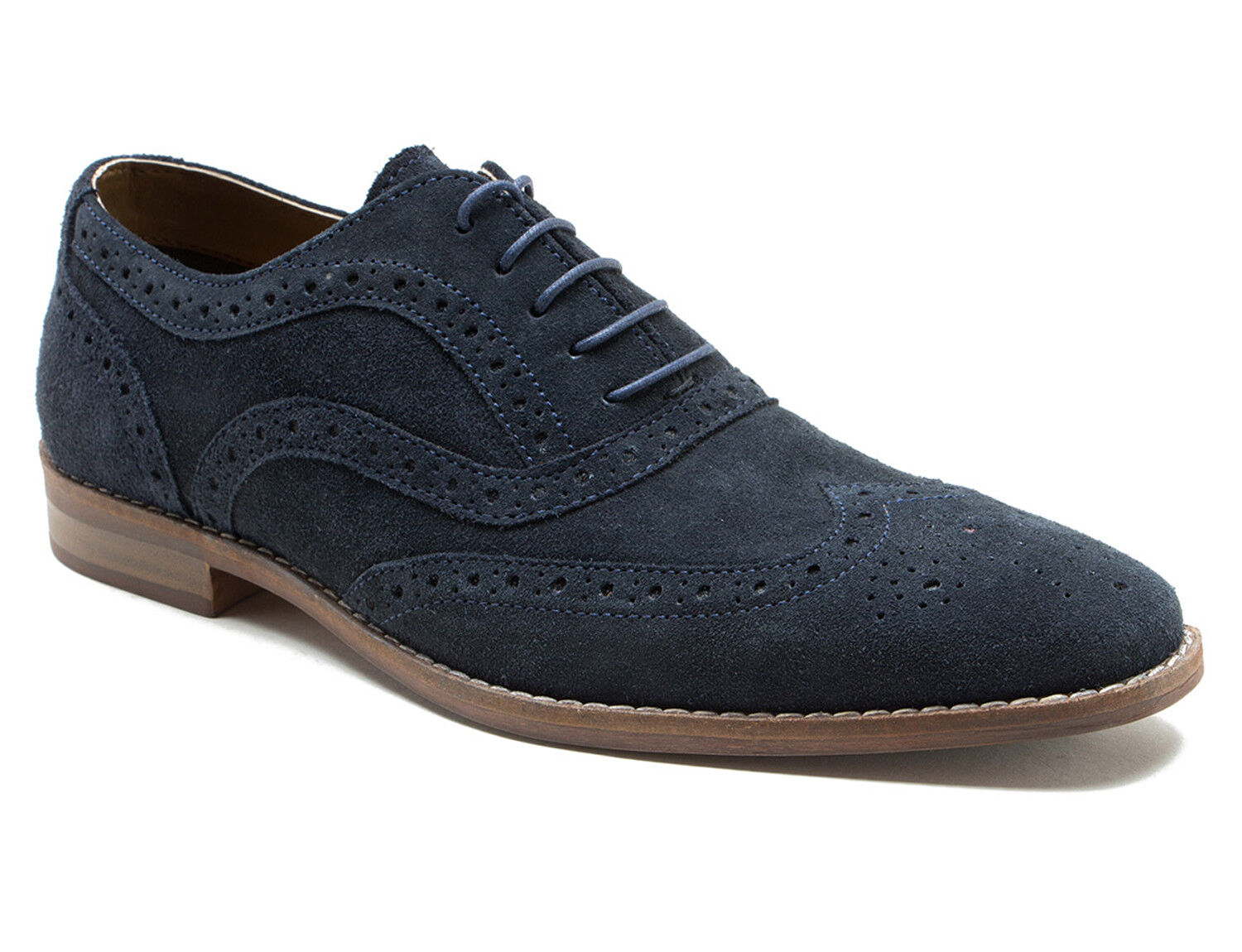 Red Tape Thorpe Navy Shoes Mens Suede Brogue Formal Shoes Navy 6bc8ff