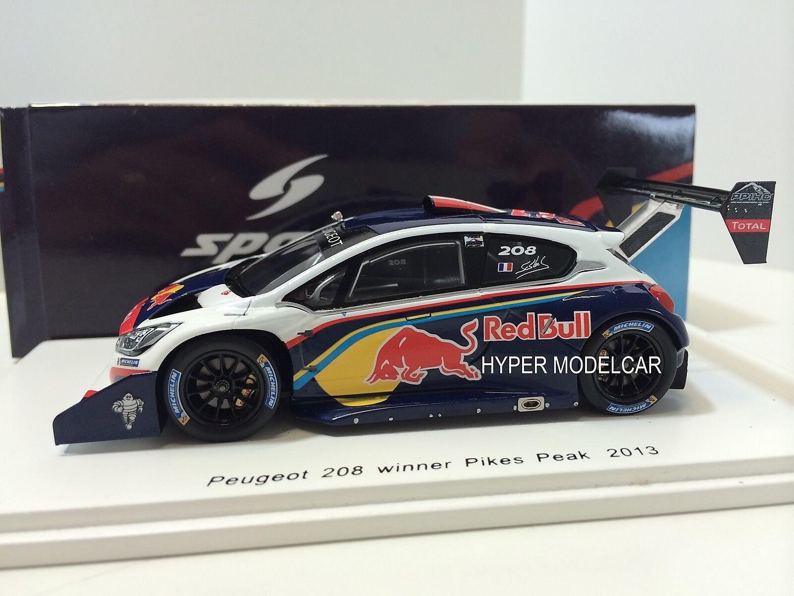 SPARK Model 1 43 Peugeot 208 Winner Pikes Peak 2013 S. Loeb Art.S3783