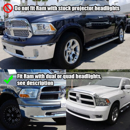 For 09-18 Dodge Ram 2019 Style Chrome Projector Headlights Left//Right Assembly