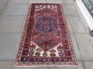 Rug Oriental Wool Purple Long
