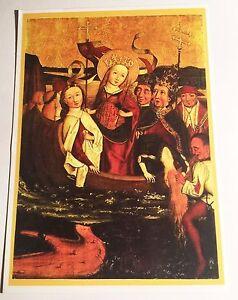 Saint-Ursula-Post-Card-15-cm-x-10-5-cm-Religion-Christian-Saint-11-K-Virgins