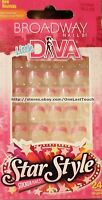 Broadway Little Diva 24 Press/stick-on Nails Pink Tips W/flowers 56961 1/2