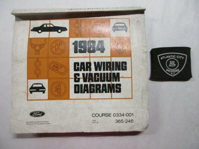 1984 Ford Car Mustang Thunderbird Continental Vacuum