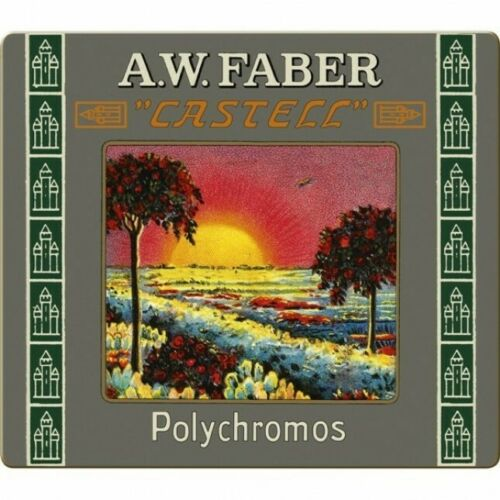 Tin environ 60.96 cm Faber Castell Limited Edition POLYCHROMOS artiste Couleur Crayons Set of 24 in