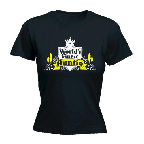 Worlds Finest Auntie WOMENS T-SHIRT Mum Birthday Aunt Aunty Funny Gift birthday