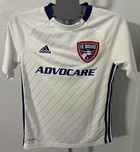 Details about FC DALLAS YOUTH MEDIUM ADIDAS JERSEY MLS SOCCER KIDS 11-12 AEROREADY WHITE NEW