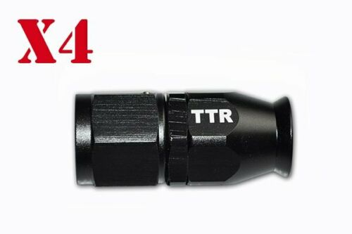 8 AN8 Black Nylon Braided  PTFE Fuel Hose Line 33FT 10 Fittings  E85