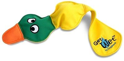 Doggles Get Wet Dog Floating Fetch Throw Float Water Toy Ball Yellow Duck  NEW