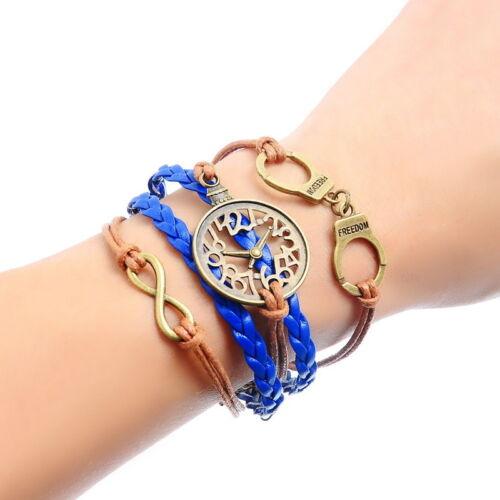 1 Armband FREEDOM Uhr Wickelarmband Unendlichkeit Flechtarmband 19cm