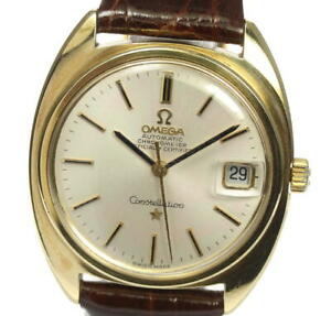 OMEGA-Constellation-Antique-date-cal-564-Silver-Dial-Automatic-Men-039-s-540993