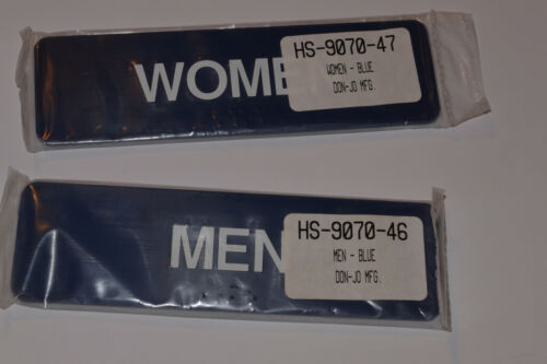 "SELF ADHESIVE BLUE 1-3//4/"" x 6/"" NEW MEN /& WOMEN SIGNS BRAILLE DON-JO HS 9070"