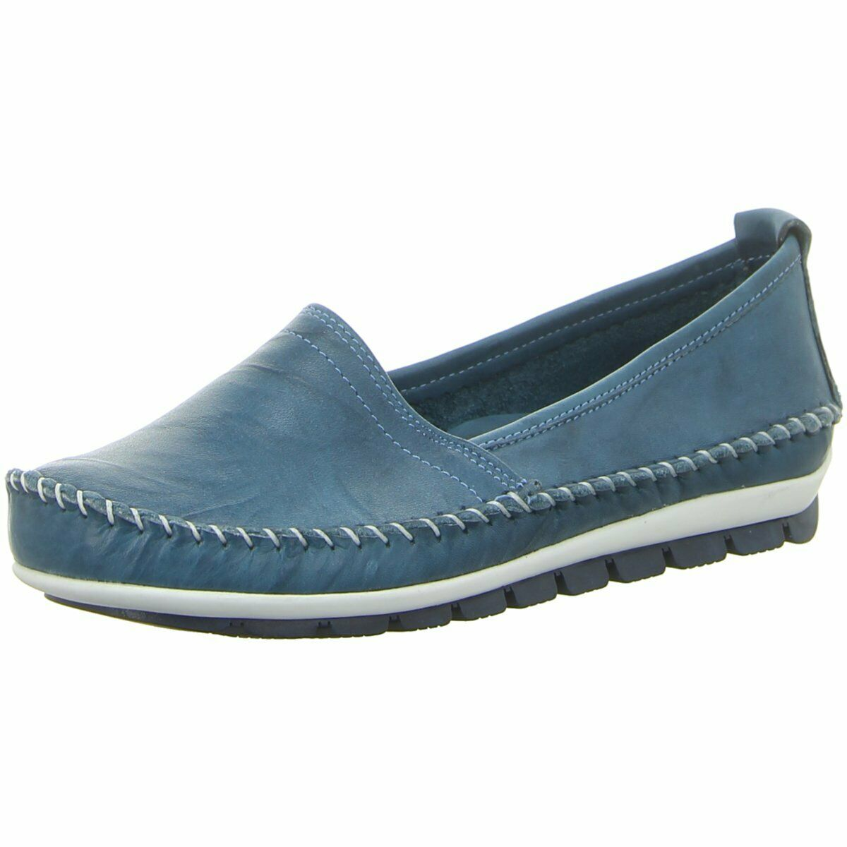 Gemini Damen Slipper 003122-01 808 blau 465563