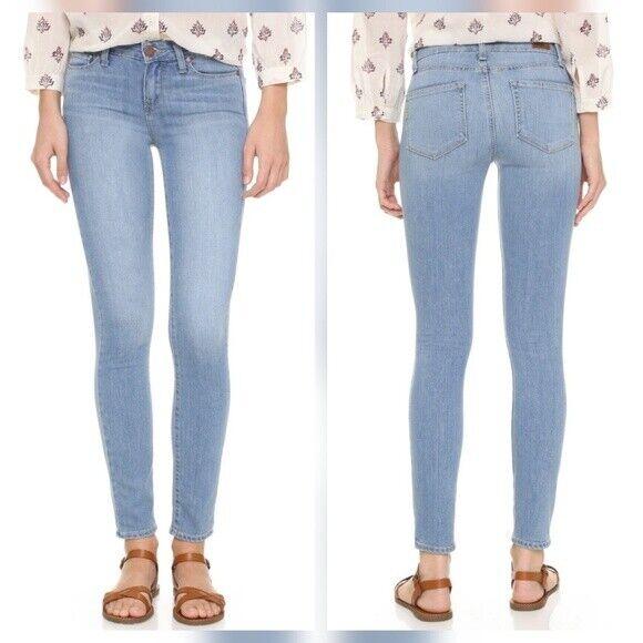Paige Silvie Transcend Verdugo Ultra Skinny Jeans In Light Grey 32 In For Sale Online Ebay