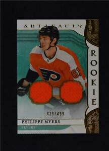 2019-20 UD Artifacts Base Gold Jersey Relic #163 Philippe Myers /499
