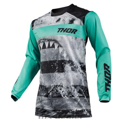2019 Thor Pulse Savage Jaws Shark Jersey Trikot mint mx motocross cross enduro