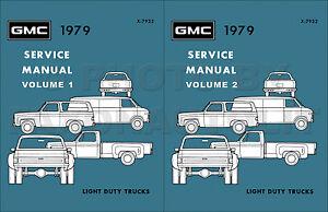 1979 gmc truck shop manual set pickup sierra van jimmy suburban image is loading 1979 gmc truck shop manual set pickup sierra fandeluxe Image collections