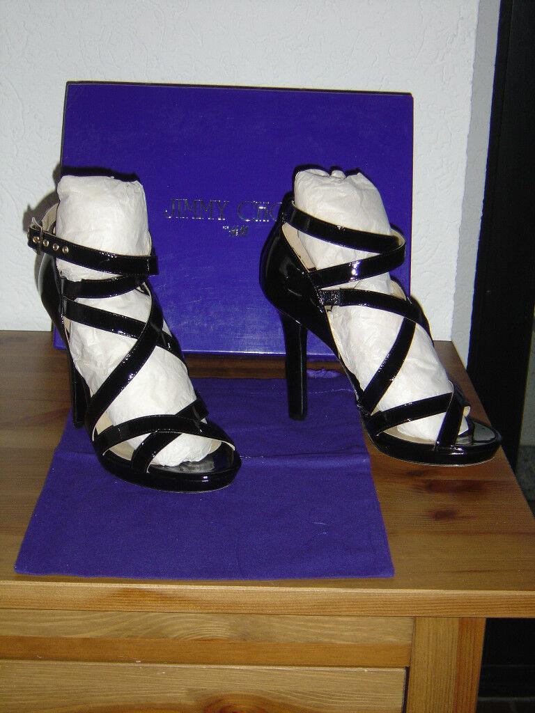 Jimmy CHOO pour h&m scarpe EUR tacchi alti Stilettos pelle verniciata EUR scarpe 39 size US 8 07cb80