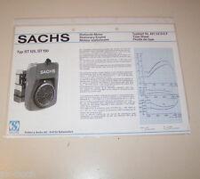 Typenblatt / Technische Daten Sachs Stationär Motor ST 125, ST 150 - Stand 1975!