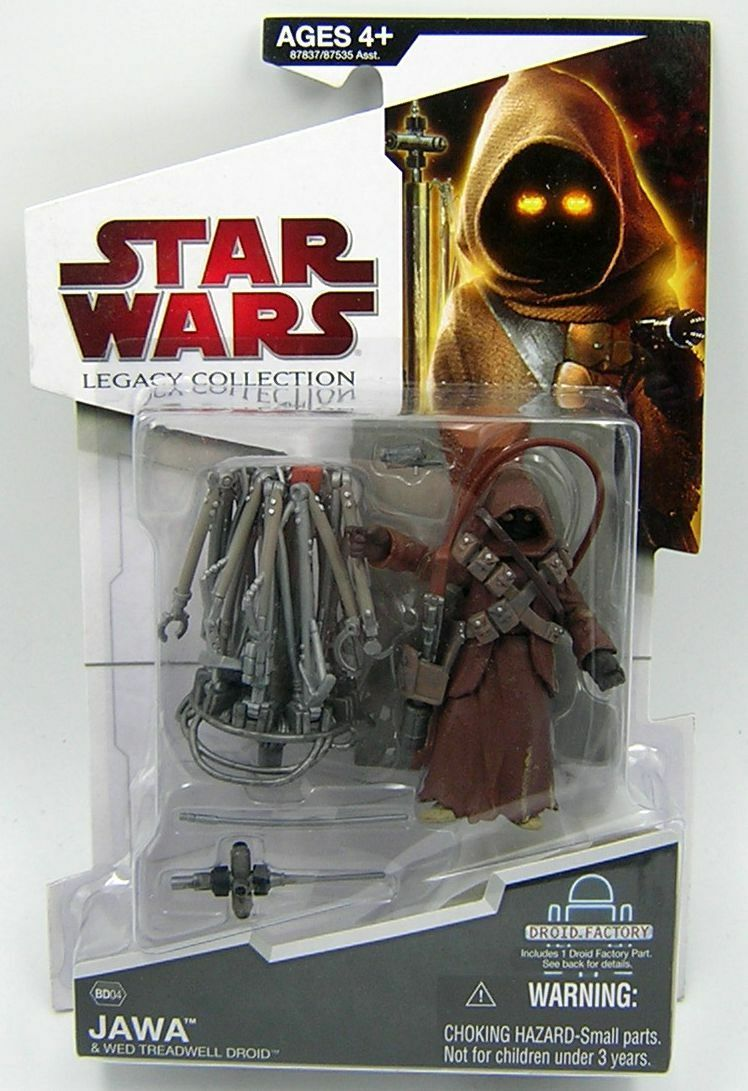 Star Wars Legacy Collection  BD04 Jawa and WED Treadwell Droid RARE  produit de qualité