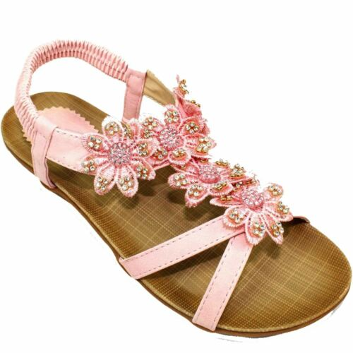 JCH002 Fiji Junior Childrens Elasticated Sling Back Faux Leather Padded Sandals