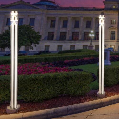 DEL en acier inoxydable Stand Lampe Extérieur Jardin éclairage véranda Cour voies debout lampe